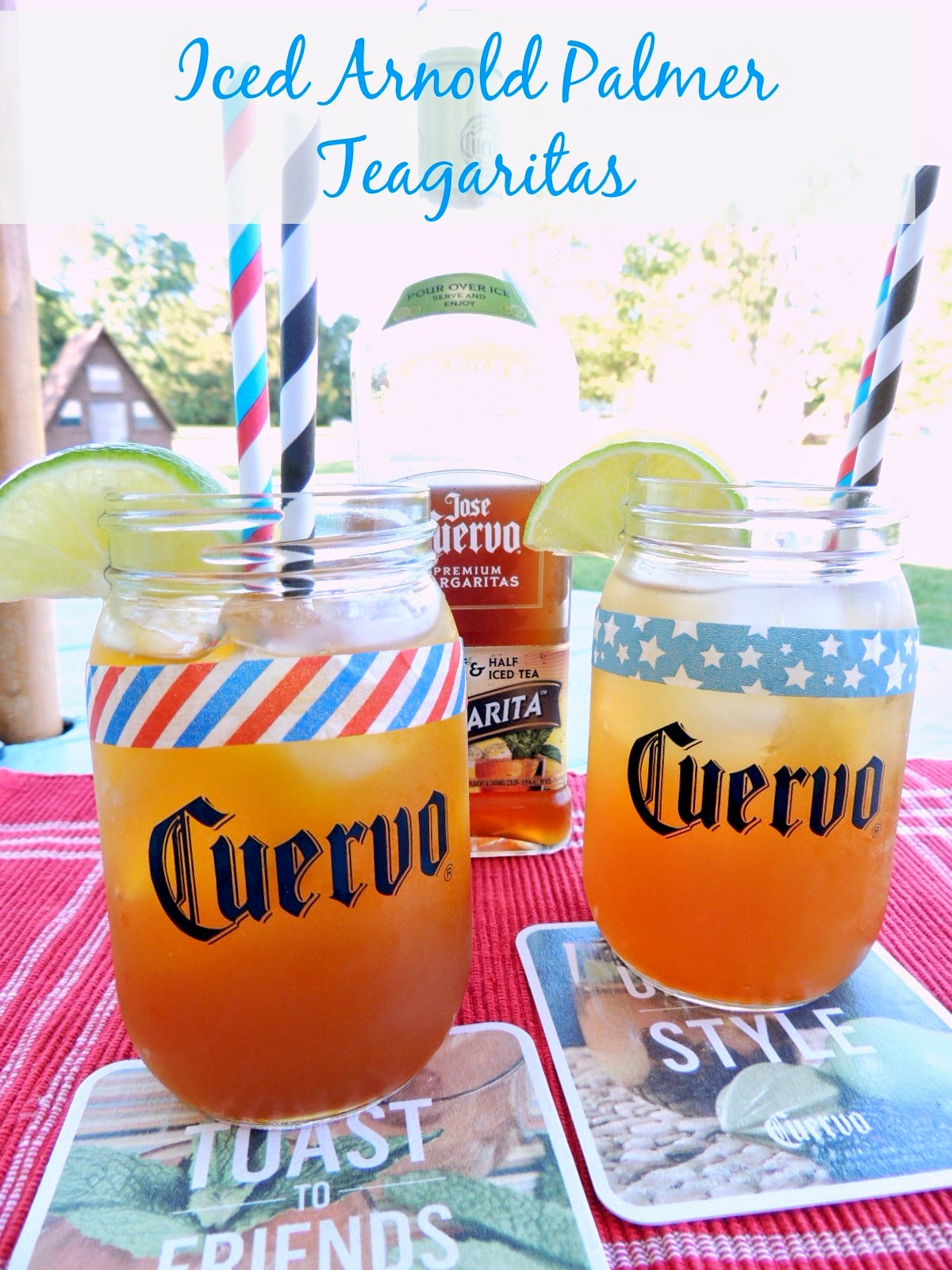 Iced Arnold Palmer Teagaritas via thefrugalfoodiemama.com #CuervoTeagarita #cocktail