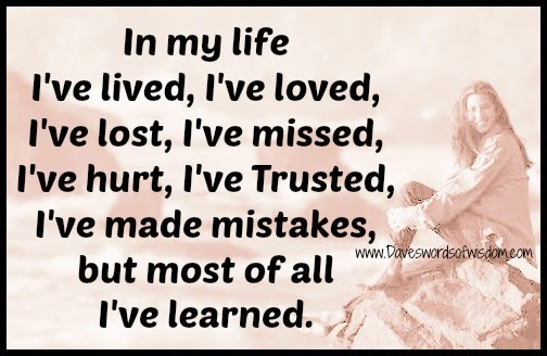 In my life I ve Lived   Poems About Life Lessons Learned