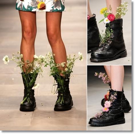 ashish flower boots, flower boots, flower shoes, skor med blommor, blomster skor, blomster kängor