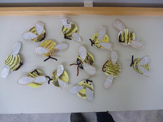 Bienen im Kindergarten basteln