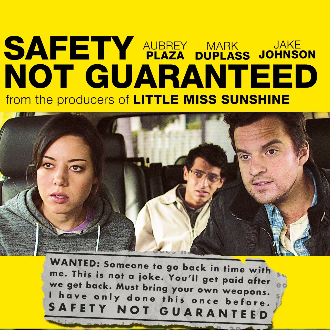 Safety Not Gaurenteed Movie Cover