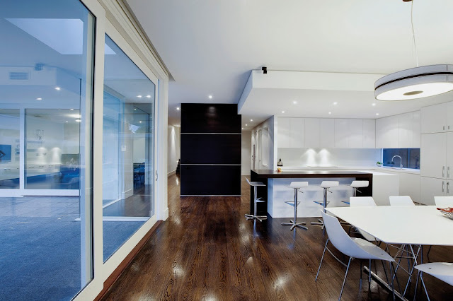 Interiors of modern home in Australia