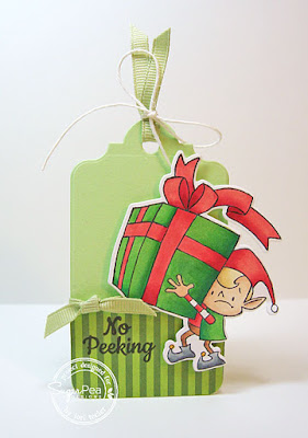 No Peeking Tag-designed by Lori Tecler/Inking Aloud-stamps and dies from SugarPea Designs