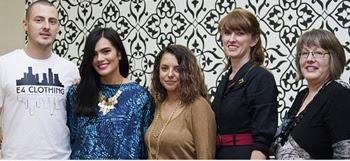 L-R: Rohan Thomas, Janette Lenk, Sara Poguet, Kelli Donavan and Anne Willsford, 5 of the designers that make up CBR Collective.