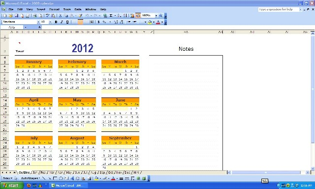 1900 2100 calendar with notes option learn computer