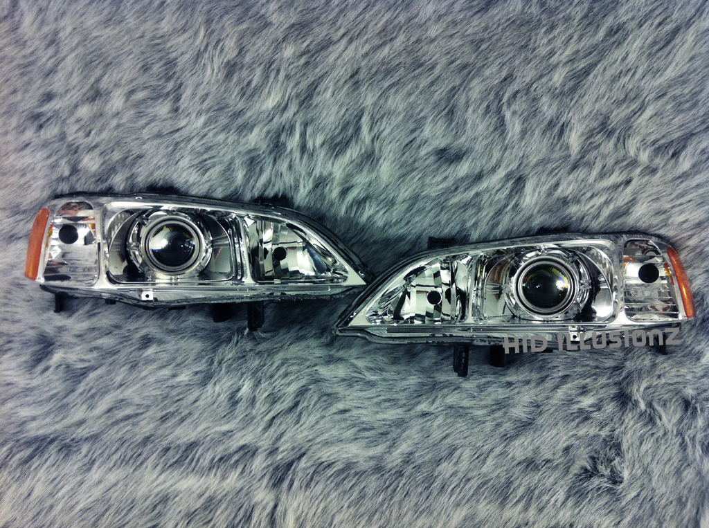 HID ILLUSIONZ Acura TL S Bullet HID Projector Retrofit Headlights - Acura tl aftermarket headlights