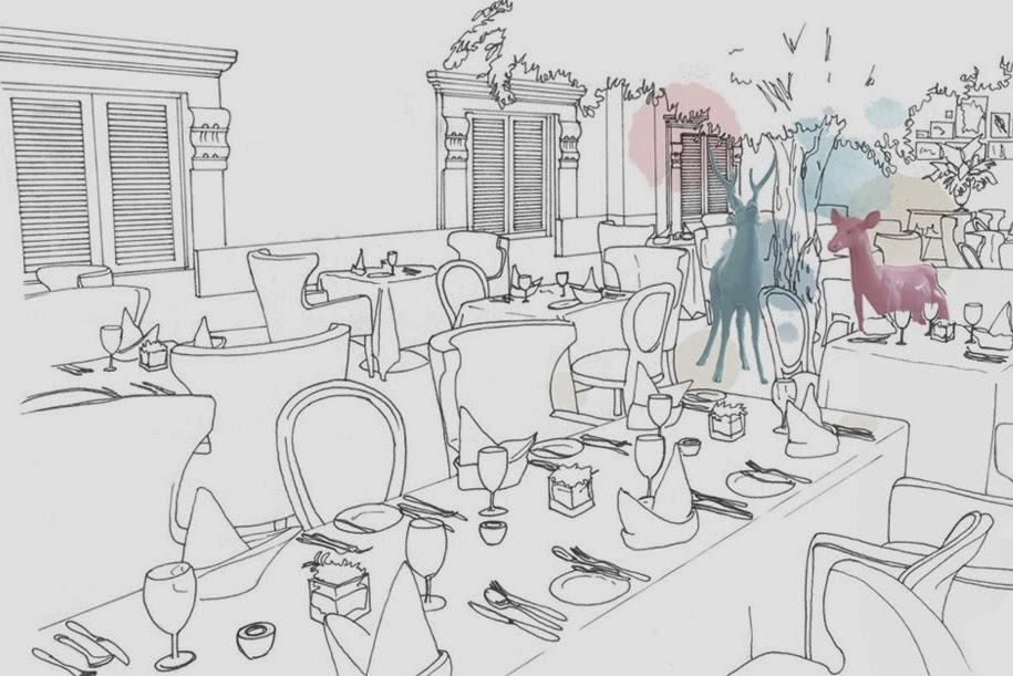 designer sketch of the venue of macalister mansion