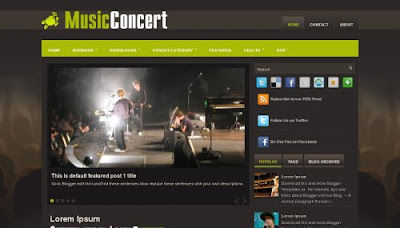Music Concert Blogger Template