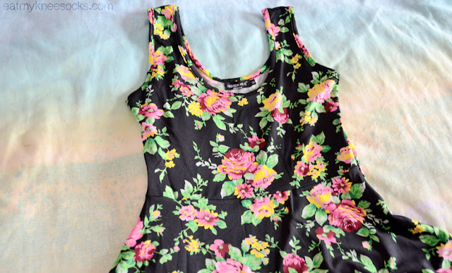 Milanoo's floral dress has a soft fabric and scoop neck design.