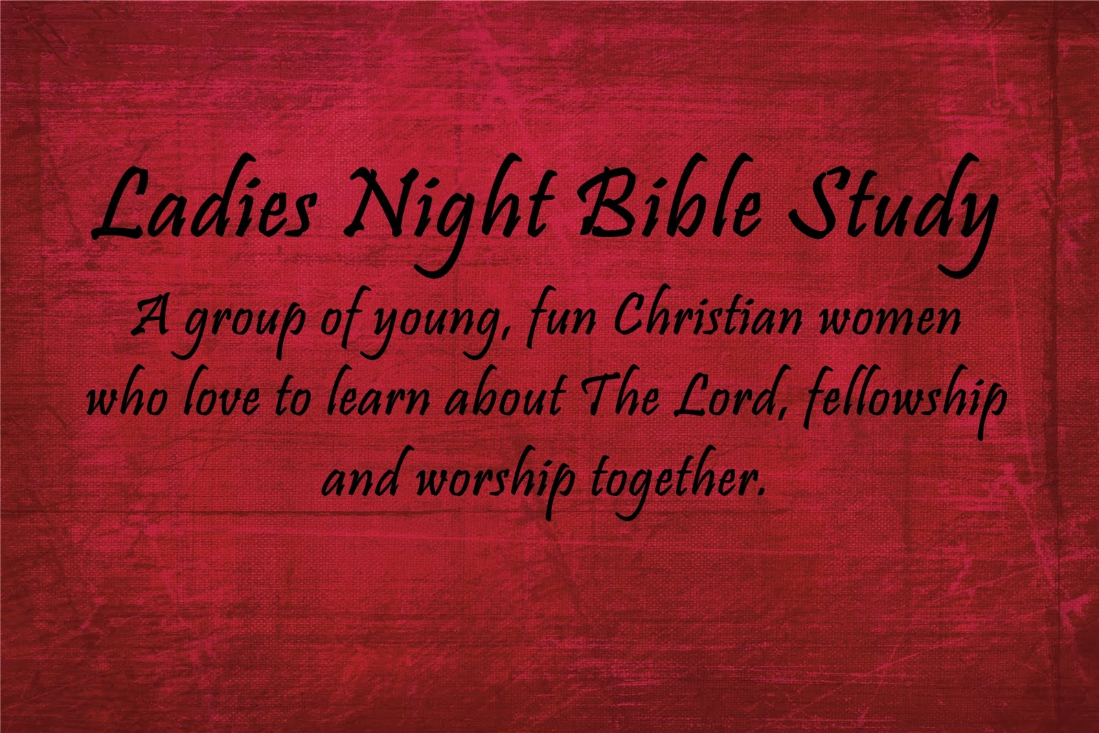 Ladies Night Bible Study