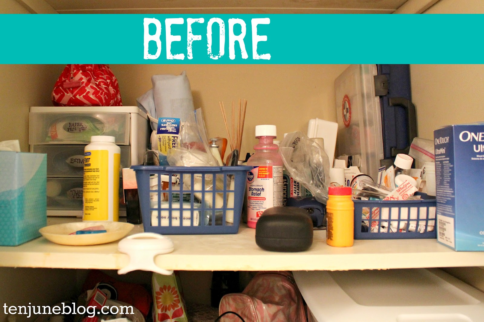 ten june guest bathroom closet organization makeover, Bathroom decor