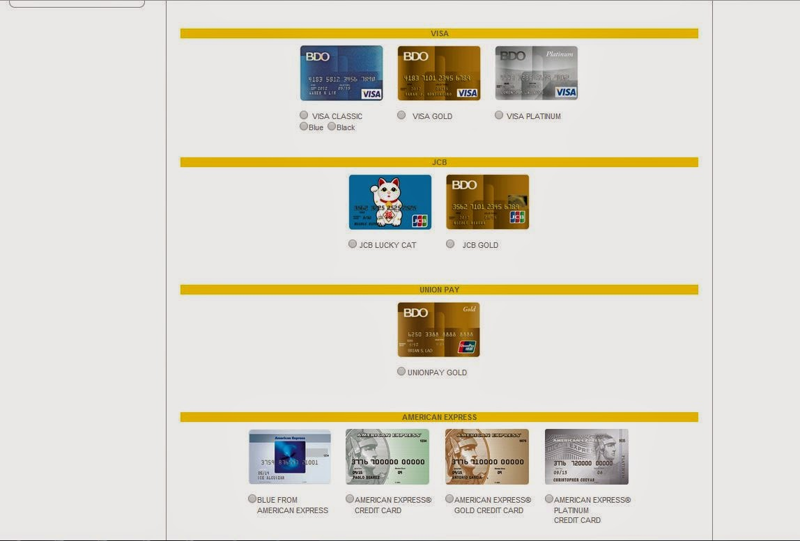how to pay credit card online bdo