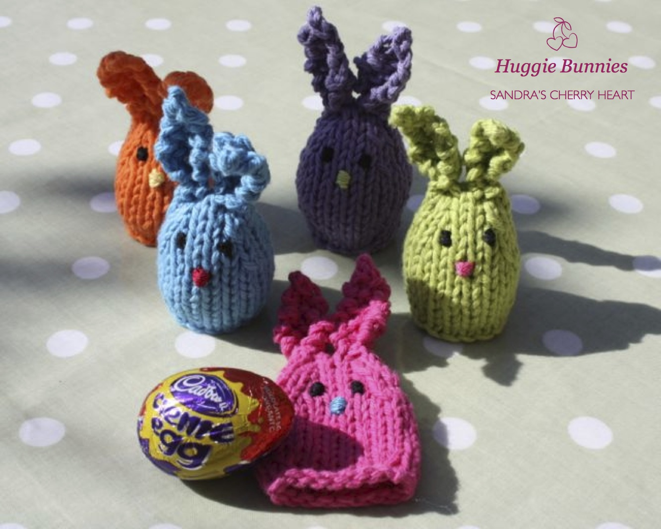 Easter Bunny Knitting Pattern : Easter Huggie Bunnies
