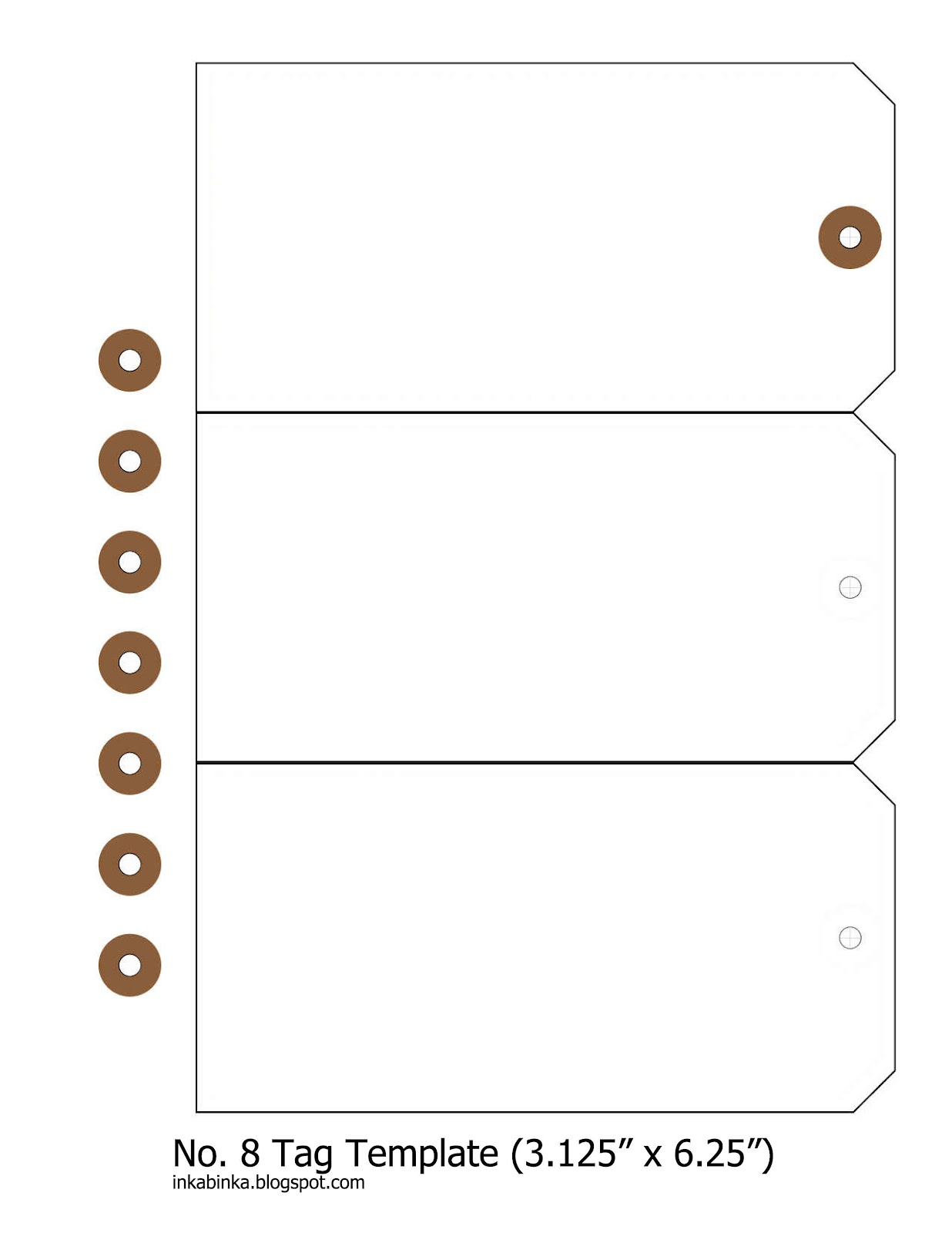 Tag Template Free Template for #8 shipping tag