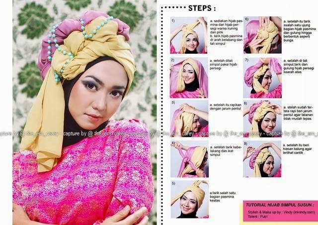 Tutorial 6. Kerudung Hijab Segi Empat Modern Anggun untuk Pesta image