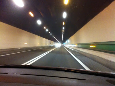 Inside Mont Blanc Tunnel