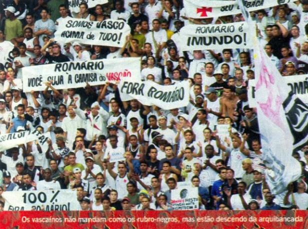 1578e371a6 Torcidas do Vasco  FORÇA JOVEM 2002  ROMÁRIO X FORÇA JOVEM