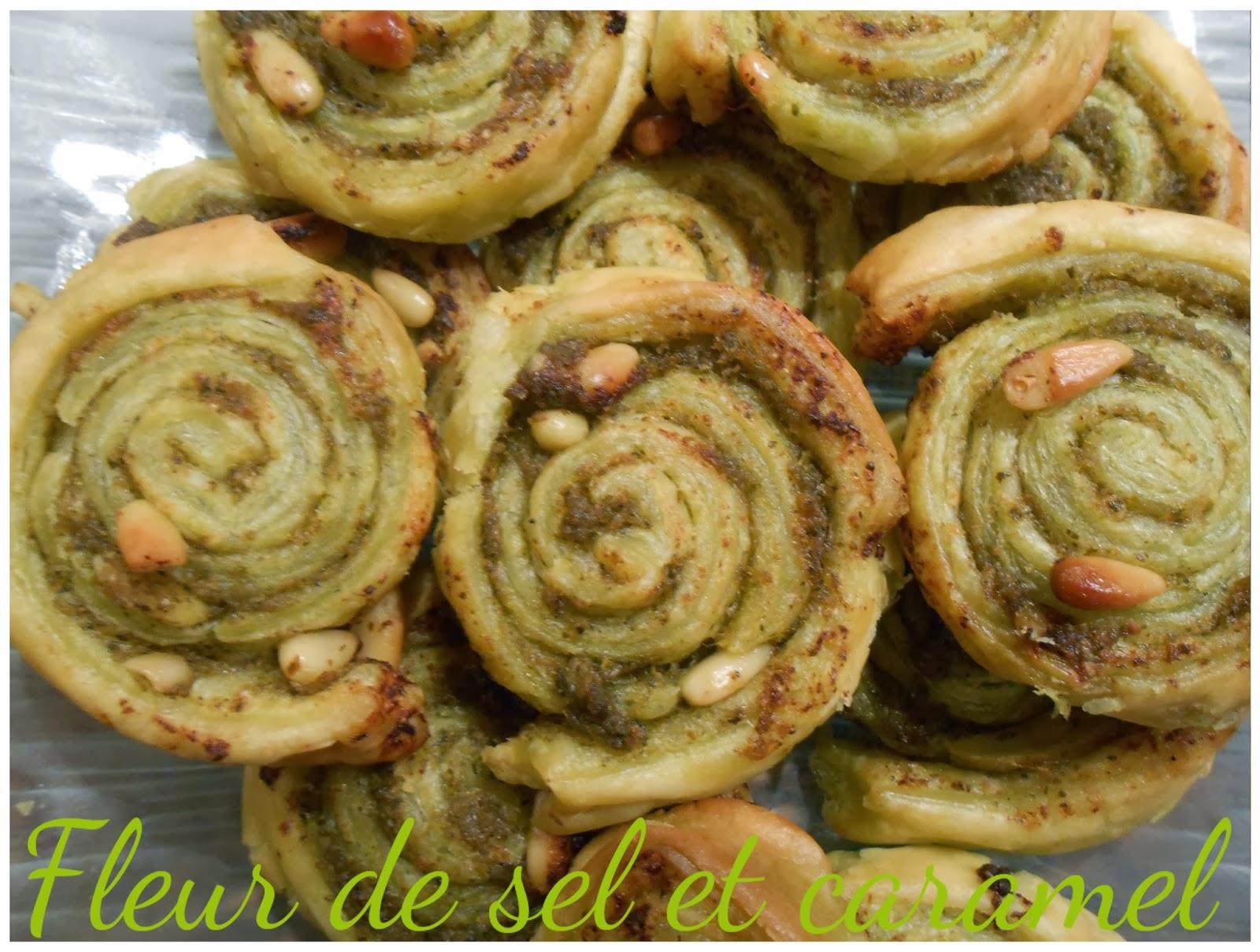 Spirales au pesto vert et pignons de pin