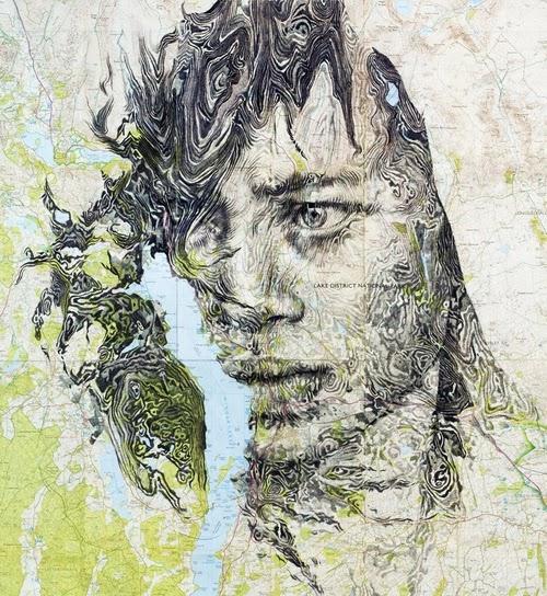 09-Map-of-Lake-Windermere-Welsh-Freelance-Artist-Ed-Fairburn-Map-Portraits-www-designstack-co