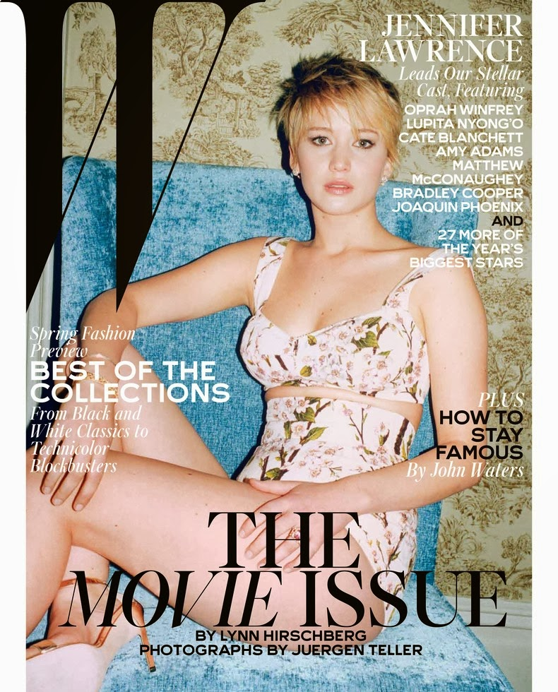 Magazine Photoshoot : Jennifer Lawrence Photoshot For W Magazine February 2014 Issue