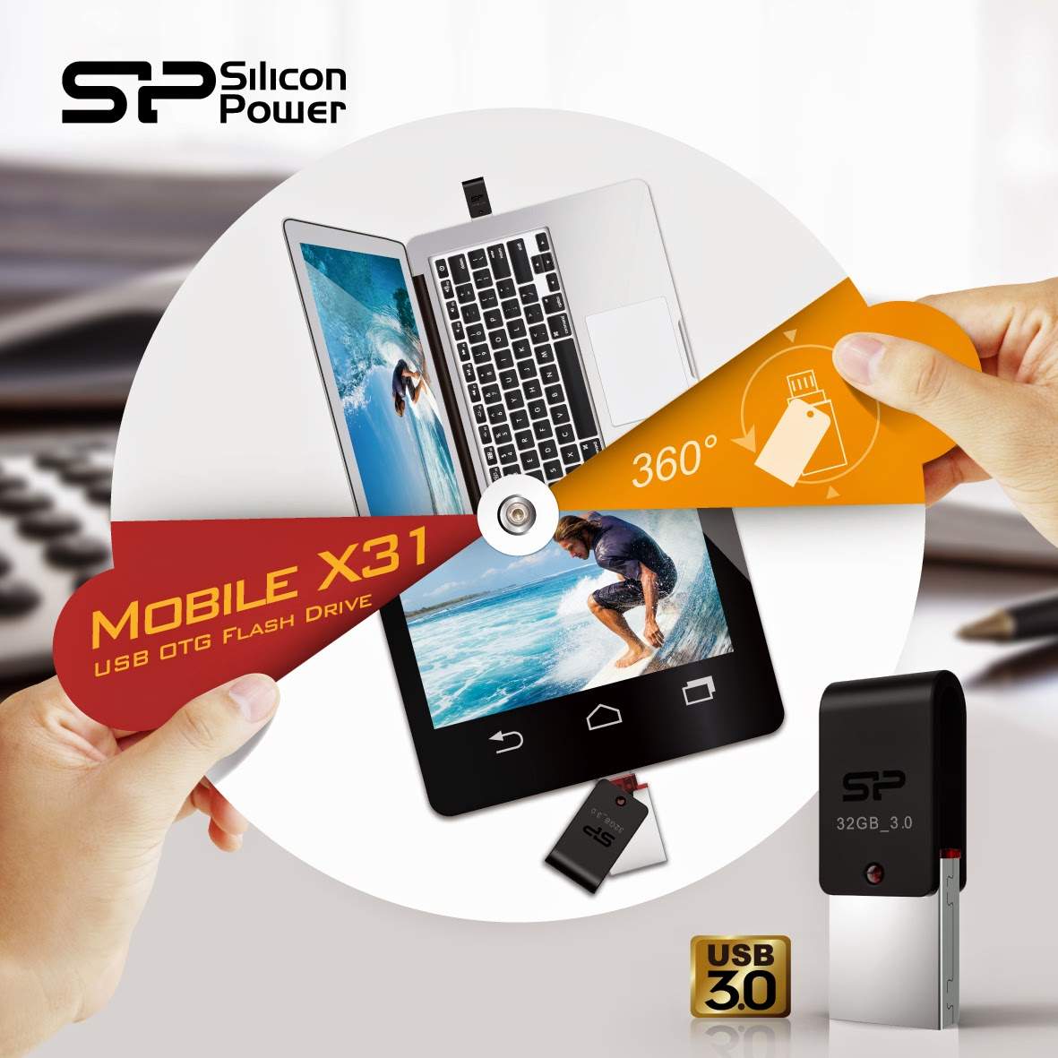 SP Mobile X31 USB 3.0 OTG flash drive