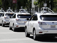 2016 Self driving car GOOGLE Test drive back view