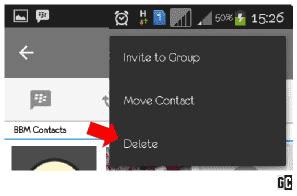 Cara Menghapus Delcont Kontak Teman BBM di Android ...