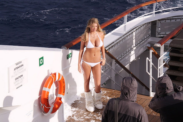 Kate Upton – Sports Illustrated Bikini Candids in Antarctica