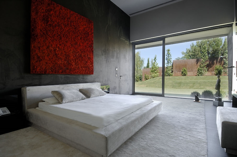 Bedroom in Ultra Modern Concrete House by A-cero Architects