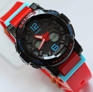 Jam Tangan G-Shock Baby-G BGA-180 Black-Red