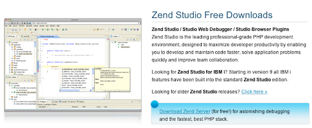 Zend Studio Free Downloads Zend Studio / Studio Web Debugger / Studio Browser Plugins