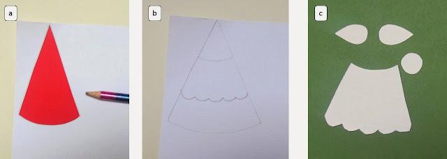 How to make a santa christmas card