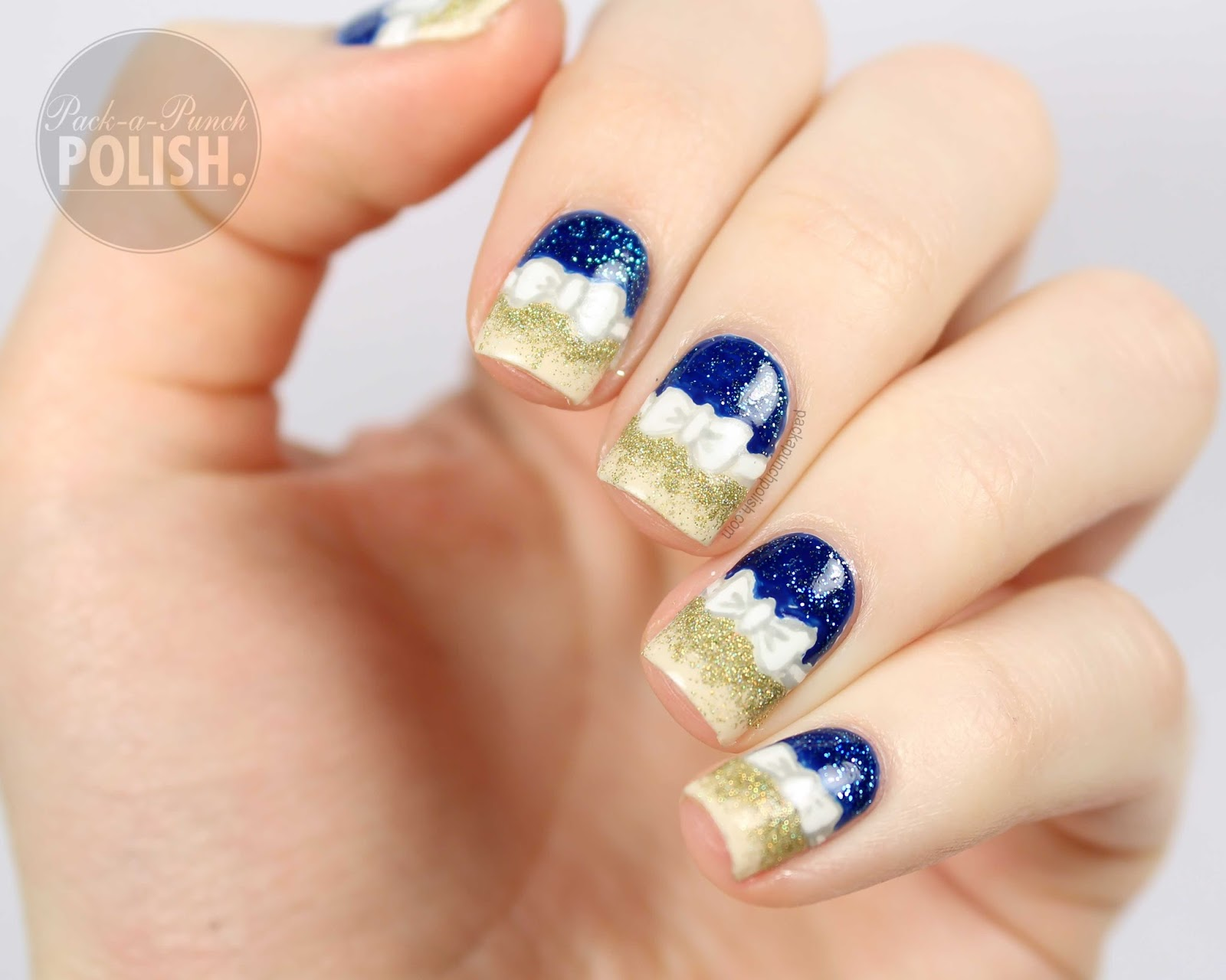 Nail Art With Blue And Gold ~ the best inspiration for design and ...