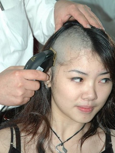 Female Head Shaving Fetish