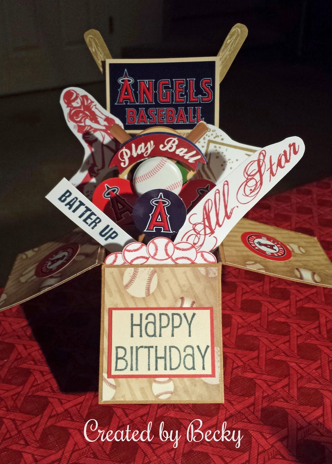Creative Bliss Baseball Birthday Card in a Box by Becky