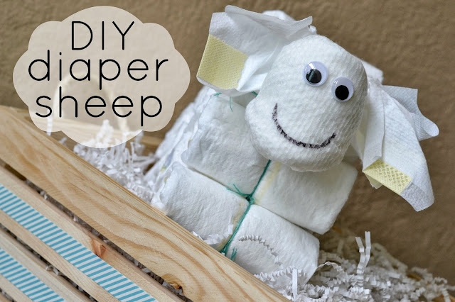 New Parent Gift, DIY Diaper Sheep, Diaper Cake Alternative, Gift basket for new parents, #DivasSleep, Pampers
