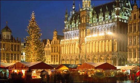 grand-place Bruselas Navidad