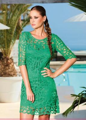 Olimara 2013 vestido corto fiesta turquesa