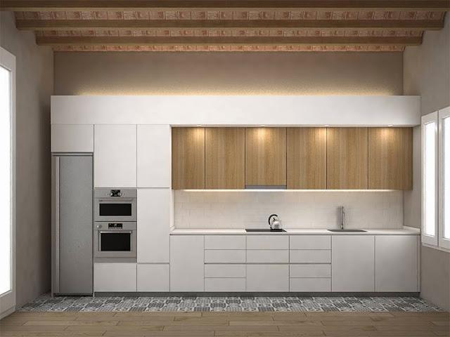Planos low cost pavimento en cocinas abiertas for Cocinas con parquet