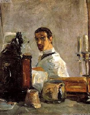 Peintures des mus es de france for Autoportrait miroir