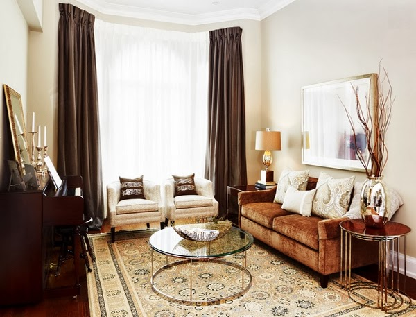 Beautiful Living Room Design Color Brown ~ Home Inspirations