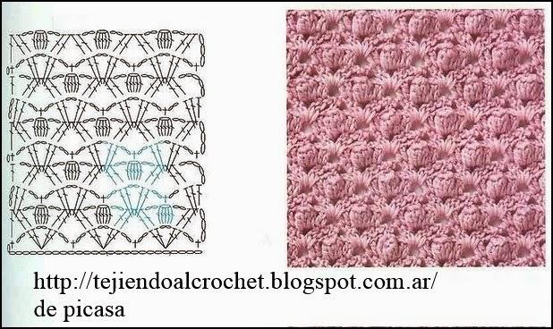 Patrones crochet ganchillo graficos diagramas - Punto de ganchillo para mantas ...