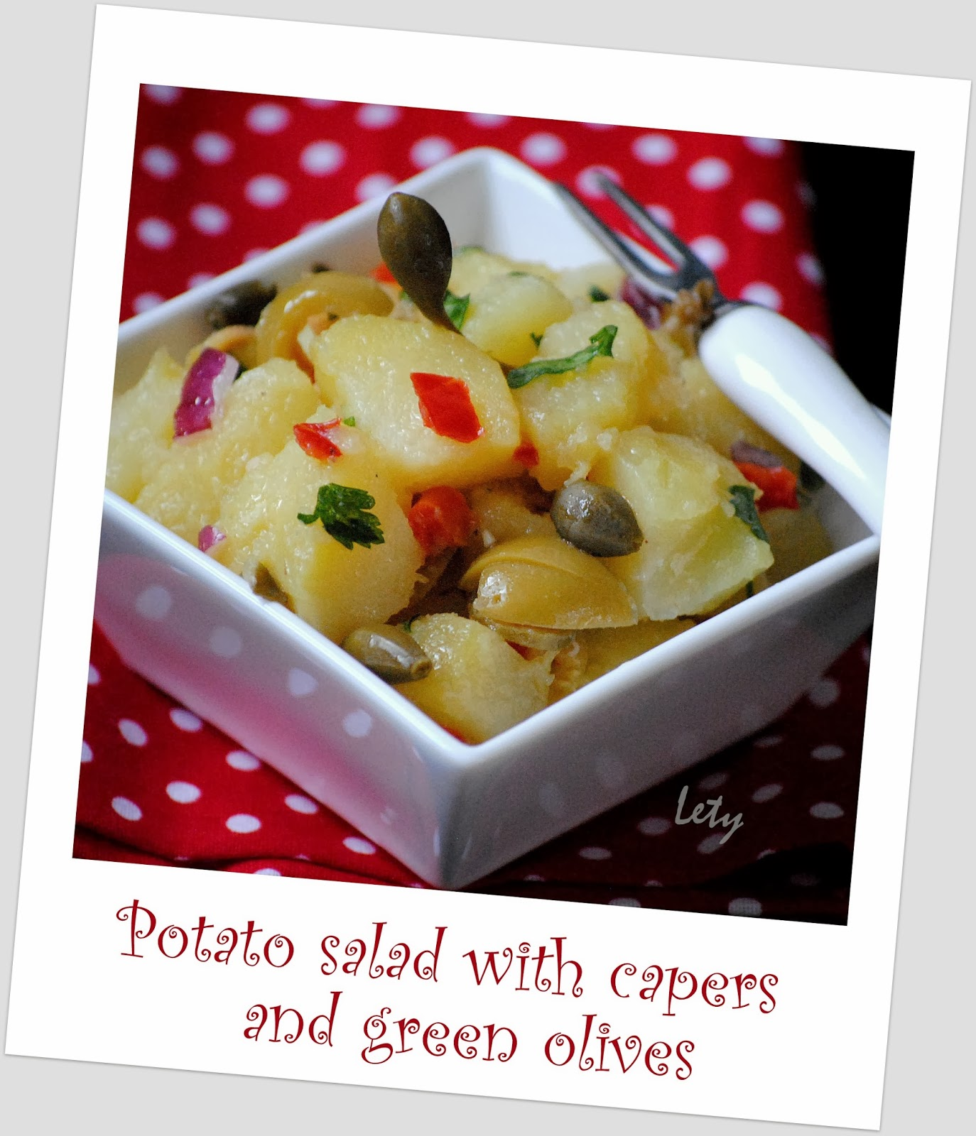 ... с маслини / Potato salad with capers and green olives