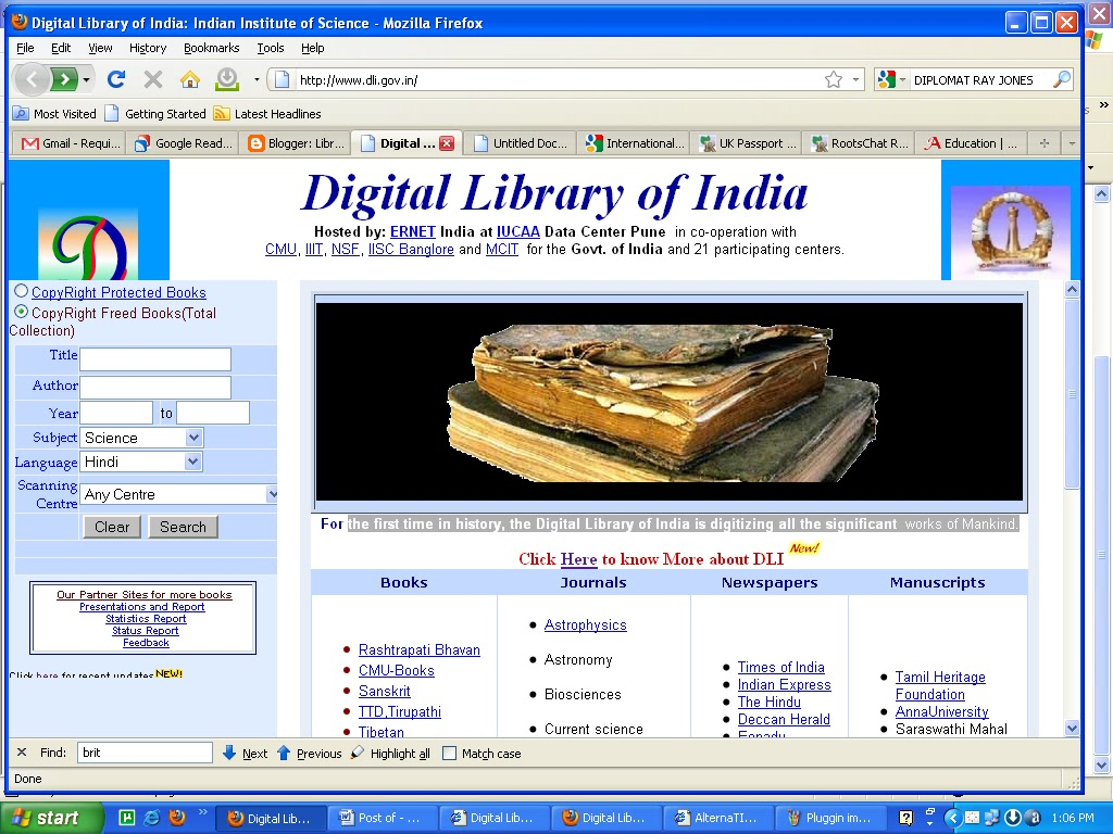 Digital Library Of India Library Professionals Use The