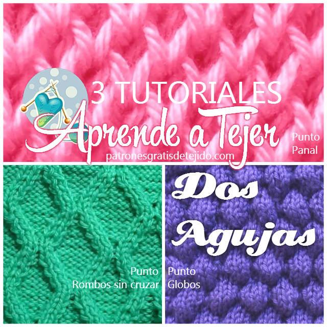 Crochet y dos agujas patrones de tejido - Tipos puntos dos agujas ...