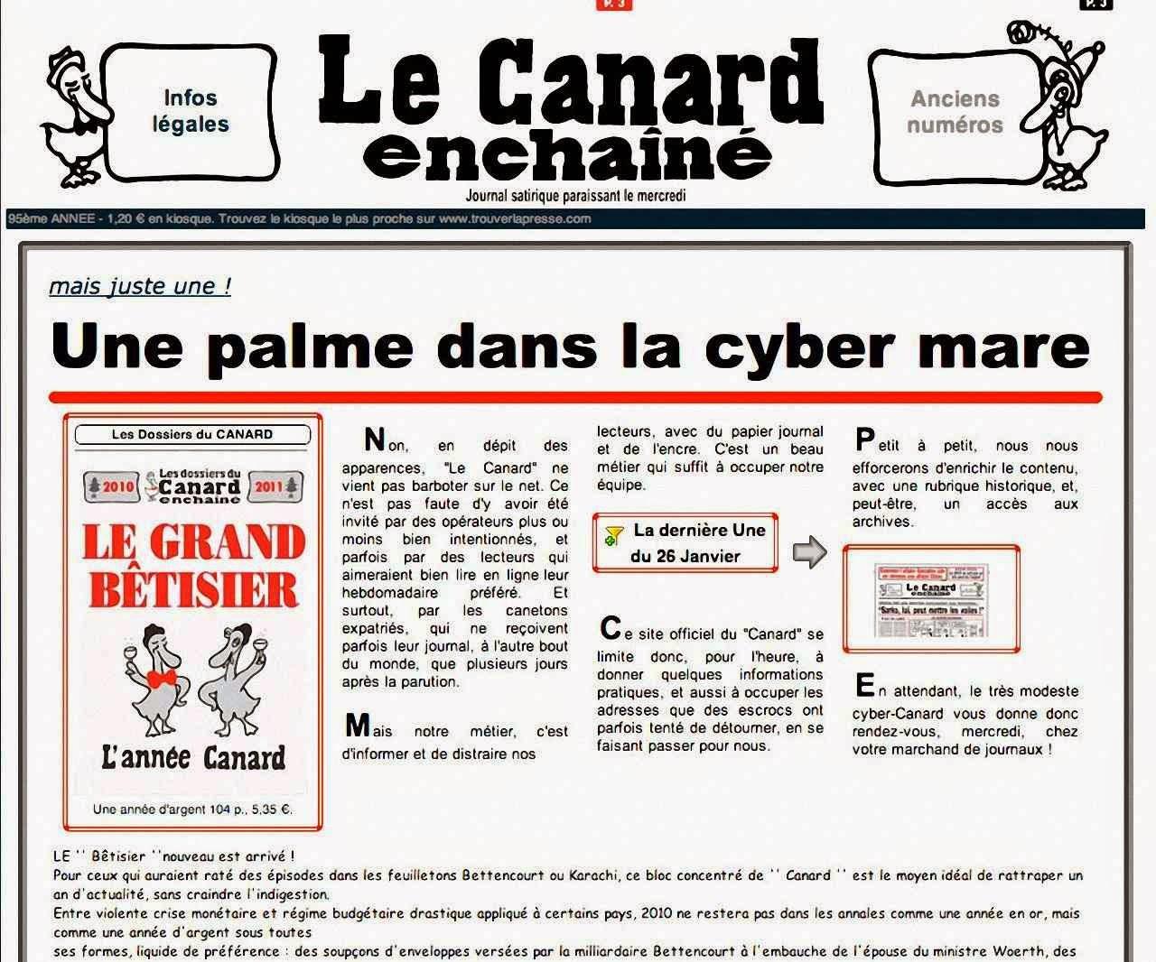 Le Canard Enchaîné: um herói vitorioso e desapiedado contra o pântano imenso da Internet