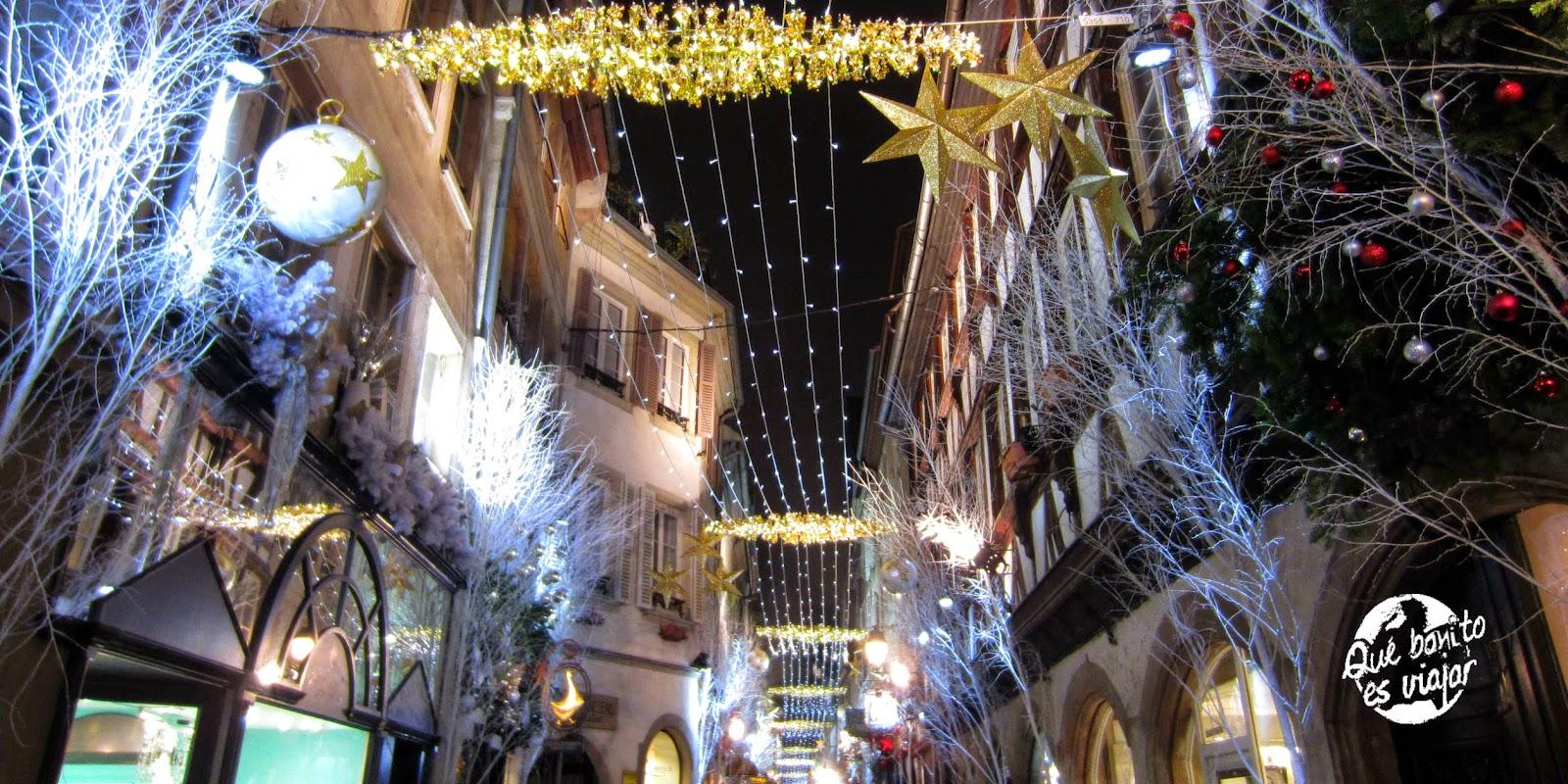 Navidad en la Rue des Orfevres en Estrasburgo