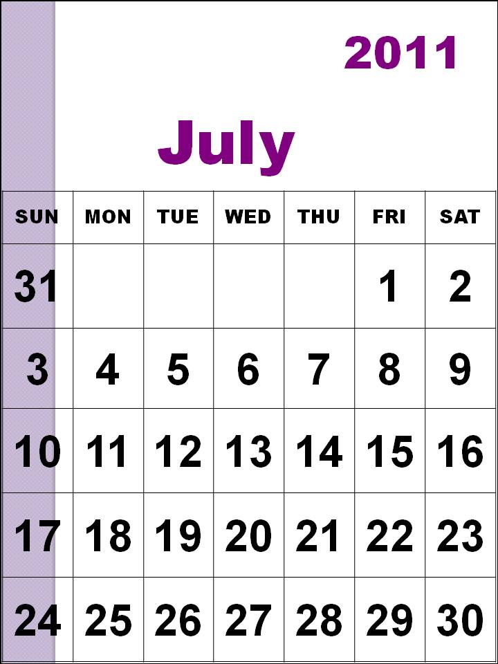 july 2011 calendar with holidays. Voting calendar for calendar