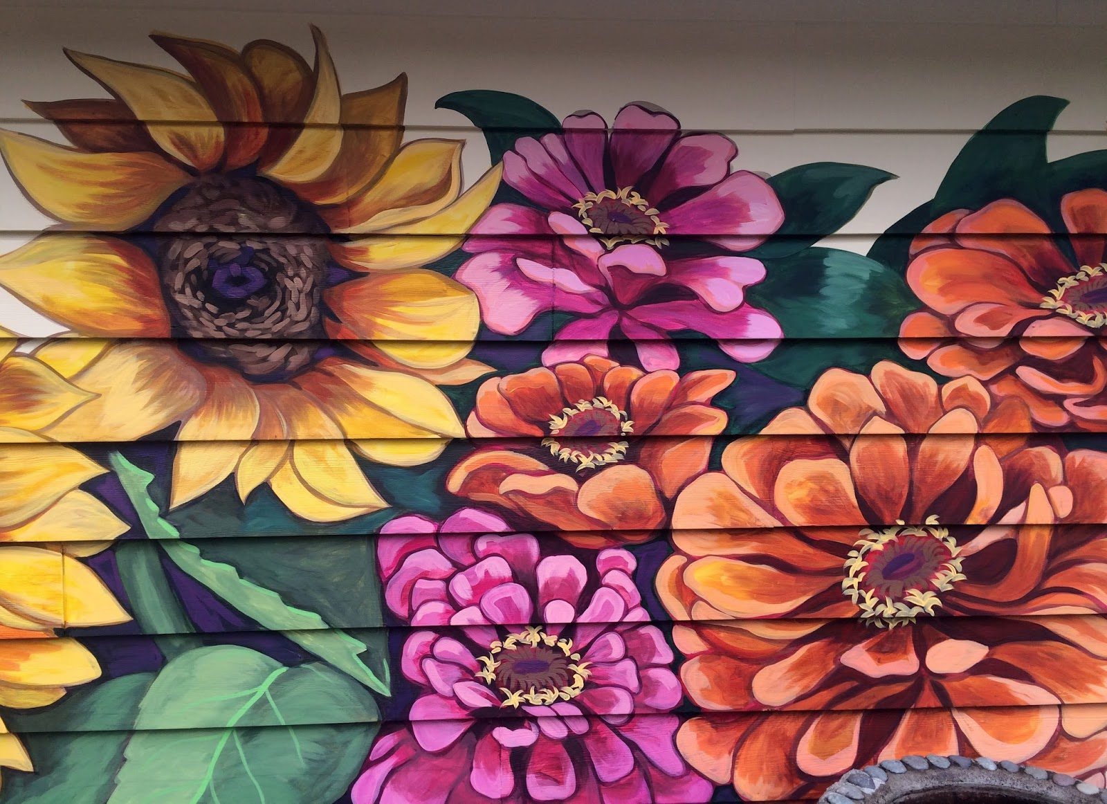 the talking walls september 2015 flower mural house exterior mural home mural custom mural portland mural