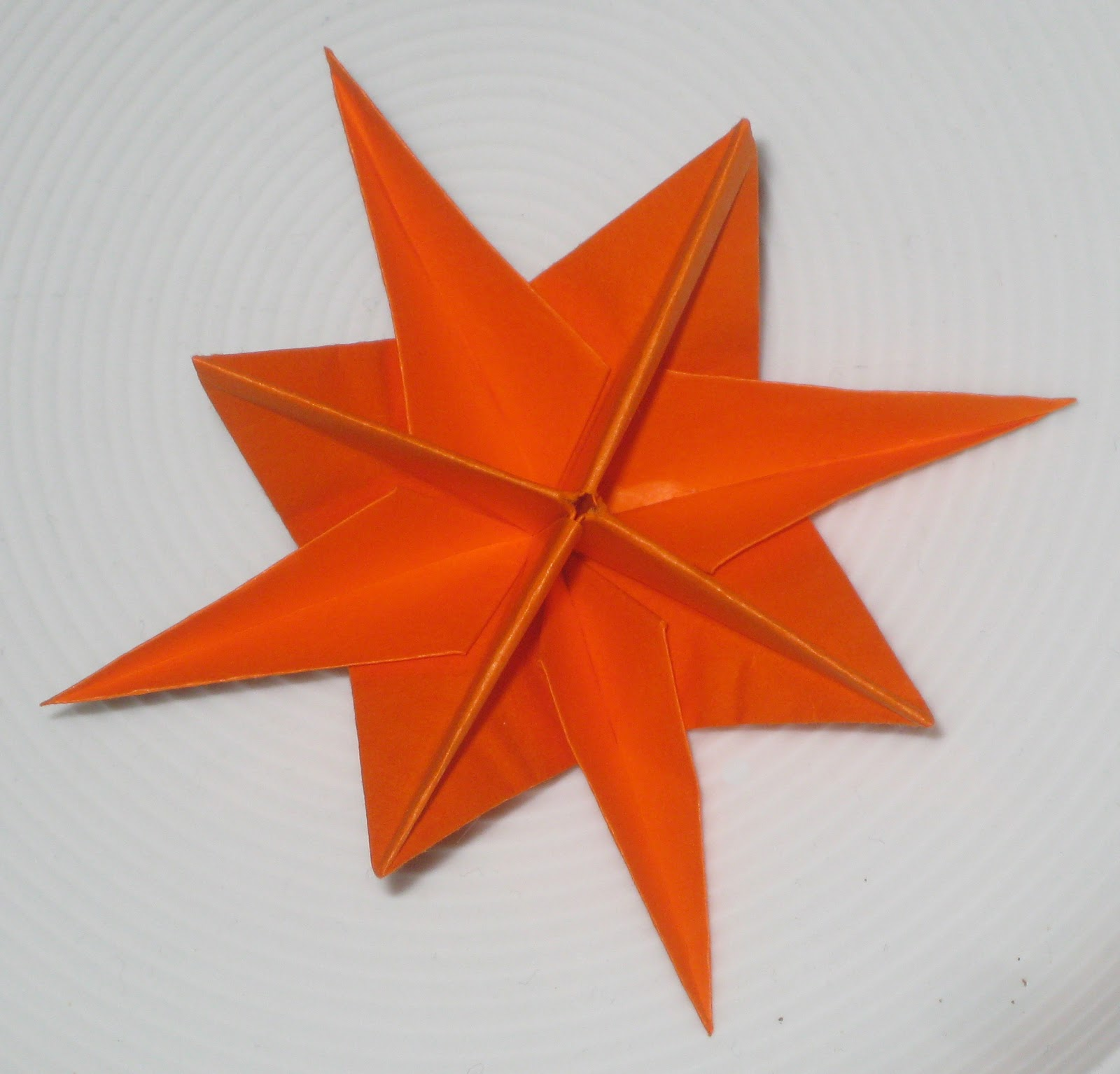 365 Days of Stargazing: 202. Orange Origami Star